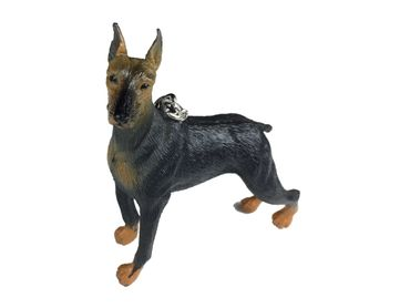 Dobermann Key NecklaceMiniblings Pets Animals Dogs Key Ring Dog 8x9 cm Pet – Bild 3