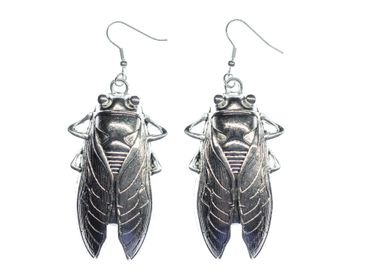 Cockroach Earrings Miniblings Cicada Cricket Insect Miniblings XL Cicadas  – Bild 1