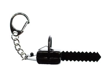 Chainsaw Key NecklaceMiniblings Key Ring Machine Saw Pendant Tool Black Metal – Bild 1