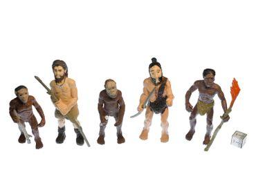 5x Evolution des Menschen Figuren Aufstellfiguren Miniblings Mensch Neandertaler – Bild 3