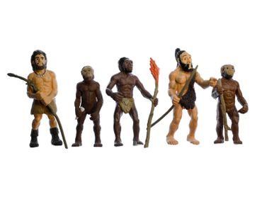 5pcs Evolution Of Man Figures Figurines Monoblocks Miniblings Rubber Human History Neanderthal – Bild 2