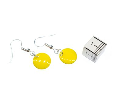 Enamel 12mm Discs Earrings Miniblings Pendant Enamelled Round Circle Ball Disc Colourfull – Bild 10
