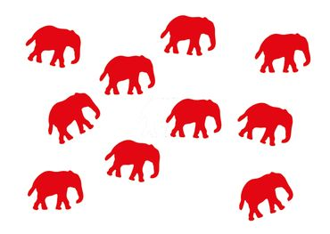 10X Elephant Patch Hotfix Iron On Motif Miniblings 34mm Glossy Elephants Africa India – Bild 16