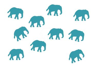 10X Elephant Patch Hotfix Iron On Motif Miniblings 34mm Glossy Elephants Africa India – Bild 4