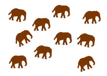 10X Elephant Patch Hotfix Iron On Motif Miniblings 34mm Glossy Elephants Africa India – Bild 8
