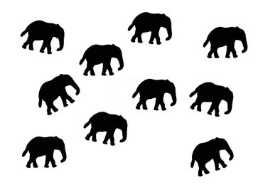 10X Elephant Patch Hotfix Iron On Motif Miniblings 34mm Glossy Elephants Africa India – Bild 9