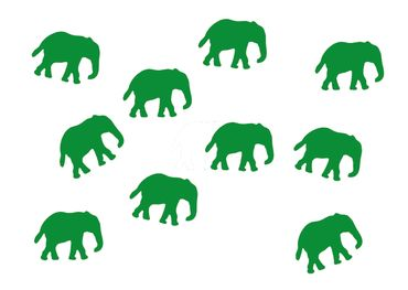 10X Elephant Patch Hotfix Iron On Motif Miniblings 34mm Glossy Elephants Africa India – Bild 10