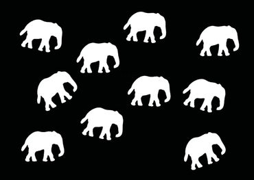 10X Elephant Patch Hotfix Iron On Motif Miniblings 34mm Glossy Elephants Africa India – Bild 11