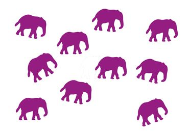 10X Elephant Patch Hotfix Iron On Motif Miniblings 34mm Glossy Elephants Africa India – Bild 13