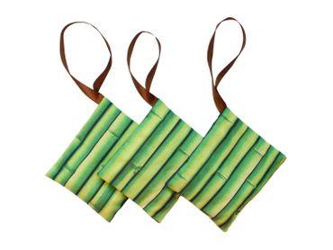 3x Lavendelkissen Miniblings Handarbeit Mottenschutz Anti Motten Bambus grün – Bild 1