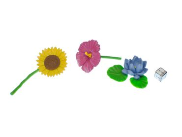 7x Set Flowers Miniblings Colorful Blossoms Floral Spring Blooms Bloomy – Bild 4