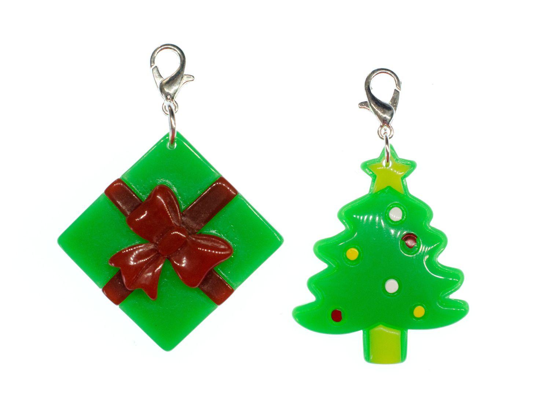 Weihnachtsbaum Kunstoff.2er Set Weihnachtsbaum Geschenk Charm Miniblings Anhänger