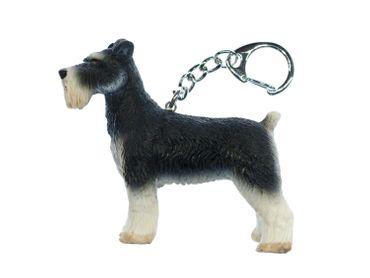 Hund Schlüsselanhänger Miniblings Schnauzer Schlüsselring Tier Haustiere 70mm – Bild 4