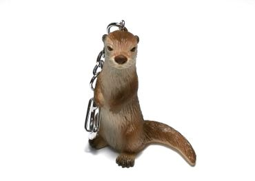 Otter Key Ring Miniblings Keychain Animal Key NecklaceAnimals Hard Rubber – Bild 1