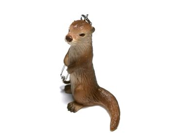 Otter Key Ring Miniblings Keychain Animal Key NecklaceAnimals Hard Rubber – Bild 2