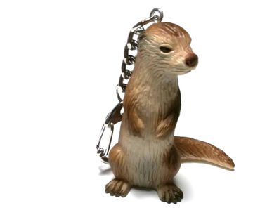 Otter Key Ring Miniblings Keychain Animal Key NecklaceAnimals Hard Rubber – Bild 5