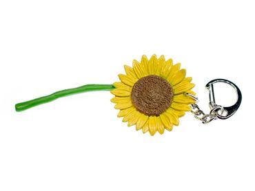 Sonnenblume Schlüsselanhänger Miniblings Blume Garten Blumen Hartgummi 82mm – Bild 1