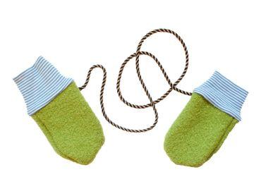 Handschuhe Kind Baby Walkloden Miniblings Wolle Handarbeit Fäustlinge 1-3 Monate – Bild 2