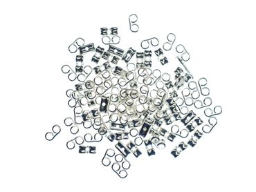 100pcs Ear Nuts Post Stopper Silver Plated DIY For Ear Studs Findings 6mm x 5mm – Bild 3