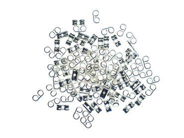 100x Rückteile Feder DIY Metall versilbert Stopper Ohrstecker Material Verschluss – Bild 3