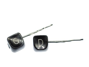 Typewriter Key ABC Letter Hair Clip Jewelry Miniblings Upcycling Initial – Bild 1