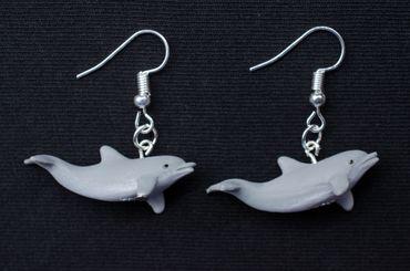 Delphin Ohrringe Delfin Miniblings Delfinohrringe Delfine Tümmler Meer Gummi – Bild 3