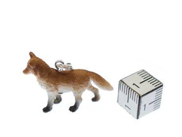 Fuchs Charm Anhänger Bettelarmband Miniblings Wald Tier Rotfuchs Raubtier Gummi – Bild 2
