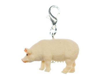 Schwein Charm Miniblings Anhänger Zipper Pull Anhänger Bettelanhänger 30mm – Bild 1