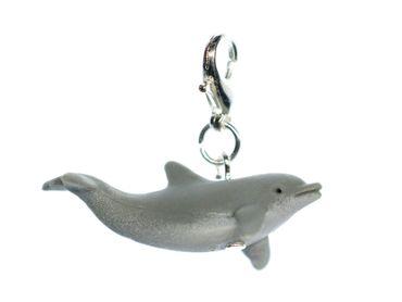 Dolphin Charm Miniblings Pendant For Bracelet Wristlet Dangle Rubber 33mm Animal – Bild 1