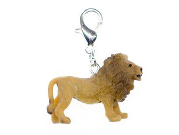 Löwe Charm Anhänger Miniblings Bettelarmband Charms Afrika Gummi 30mm – Bild 1