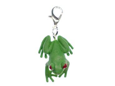 Laubfrosch Frosch Charm Miniblings Zipper Pull Anhänger grün Gummi 25mm – Bild 2