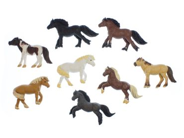 7x Horse Set Miniblings Toy Figures Figurines Pet Mix  Animal Toys Pony Ponies – Bild 1