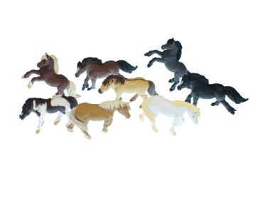 7x Horse Set Miniblings Toy Figures Figurines Pet Mix  Animal Toys Pony Ponies – Bild 3