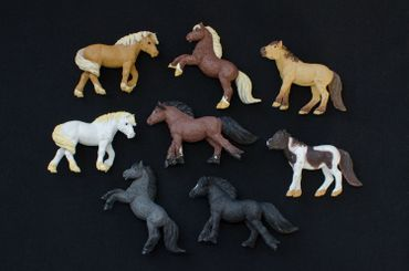 7x Horse Set Miniblings Toy Figures Figurines Pet Mix  Animal Toys Pony Ponies – Bild 4
