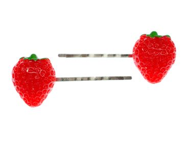 2 pcs Strawberry Hairclips Miniblings Fruits Hair Clip Fruit Berry Wildberry Summer – Bild 2