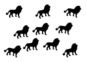 10X Lion Patch Hotfix Iron On Motif Miniblings 30mm Glossy Africa Cat Zodiac – Bild 12