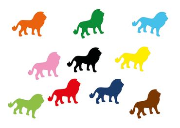10X Lion Patch Hotfix Iron On Motif Miniblings 30mm Glossy Africa Cat Zodiac – Bild 1