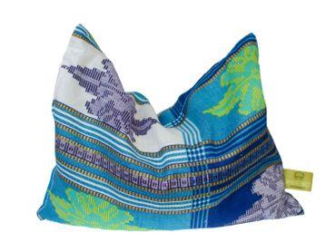 Herbal Pillow Cushion Health Miniblings 26x18cm Blue Pattern Wellness Warm – Bild 1