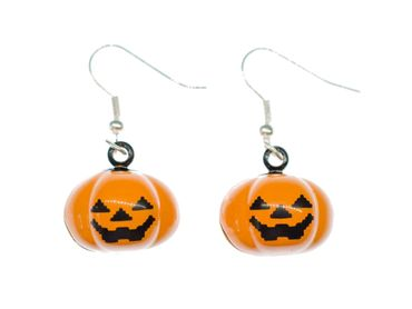 Pumpkin Earrings Miniblings Halloween Pumpkin Jack O Lantern Fall – Bild 1