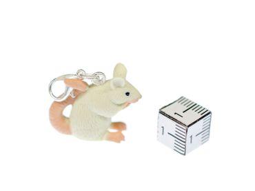 Maus Charm Ratte Zipper Pull Anhänger Miniblings Tier Ratte Gummi weiß Nagetier – Bild 3