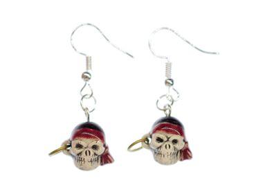 Totenkopf Totenschädel Ohrringe Miniblings Halloween Skull Schädel Pirat Mensch – Bild 1