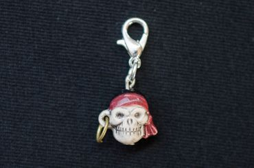 Totenkopf Charm Anhänger Bettelarmband Miniblings Pirat Halloween Schädel – Bild 3