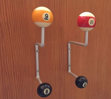 Hook coat racks wardrobe Miniblings Upcycling billiard ball hand crafted – Bild 3