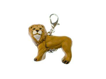 Löwe Charm Anhänger Miniblings Bettelarmband Charms Afrika Keramik Sternzeichen – Bild 1