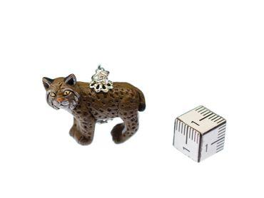 Luchs Charm Anhänger Miniblings Bettelarmband Charms Tiere Katze Keramik 23mm – Bild 2