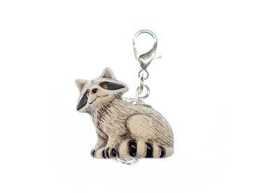 Racoon Charm Miniblings For Bracelet Wristlet Dangle Forest Animal Keramik 23mm – Bild 1