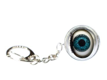 Eye Key Ring Miniblings Keyring Pendant Doll Eyes Moving Human Halloween – Bild 1