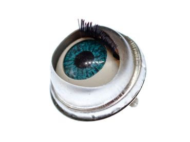 Eye Brooch Pin Miniblings Anatomy Human Medical Organ Horror Halloween Doll Eyes – Bild 1