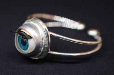 Auge Armband Miniblings Armreif Halloween Puppenauge Augen Medizin Mensch – Bild 1