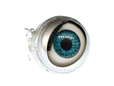 Eye Pendant Charm Miniblings Halloween Human Moving Dolls Eyes Creepy Doll – Bild 1